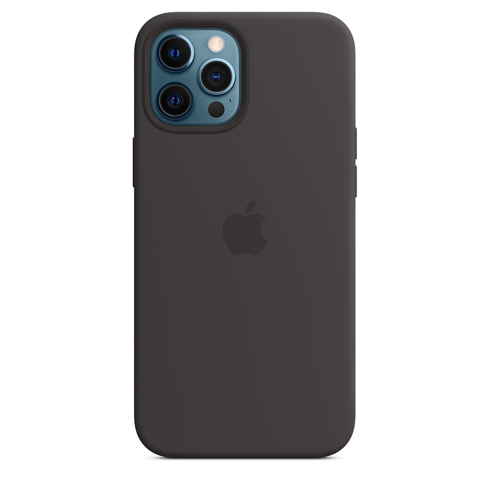 Apple silikónový obal pre iPhone 12 Pro Max – čierny s MagSafe 3