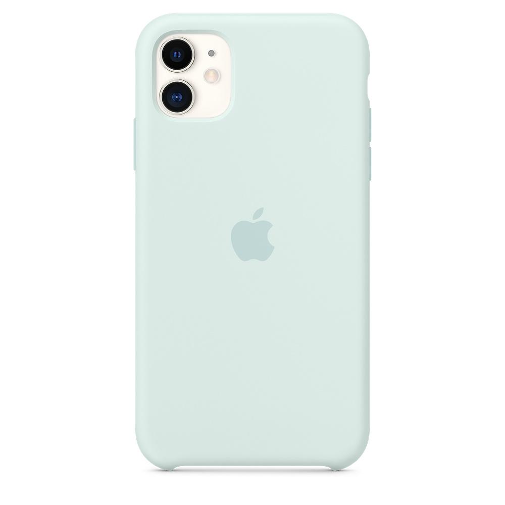 Apple silikónový obal pre iPhone 11 - bledozelený 1