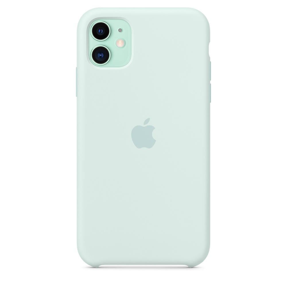Apple silikónový obal pre iPhone 11 - bledozelený 3
