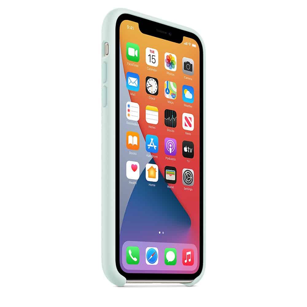 Apple silikónový obal pre iPhone 11 - bledozelený 2