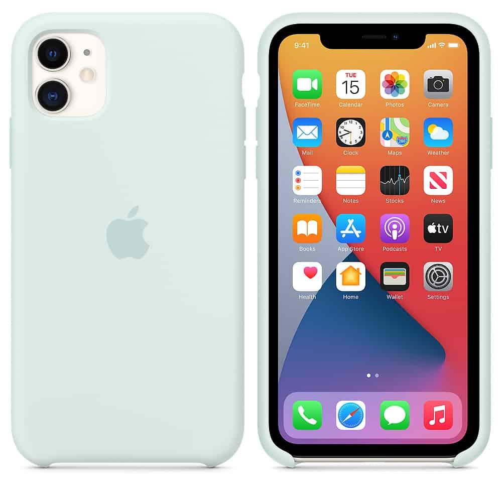 Apple silikónový obal pre iPhone 11 - bledozelený 4