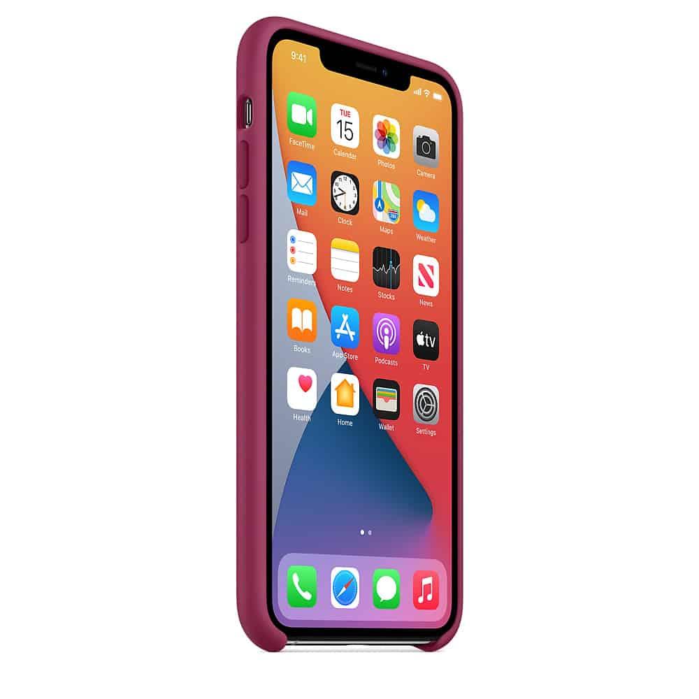 Apple silikónový obal pre iPhone 11 - bordový 2