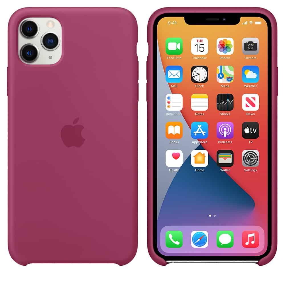 Apple silikónový obal pre iPhone 11 - bordový 4