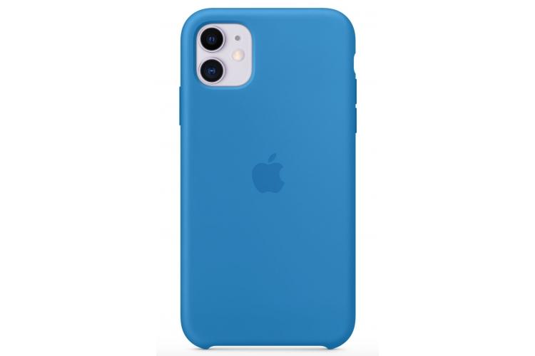 Apple silikónový obal pre iPhone 11 - príbojovo modrý 3
