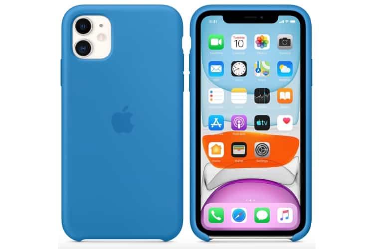 Apple silikónový obal pre iPhone 11 - príbojovo modrý 4