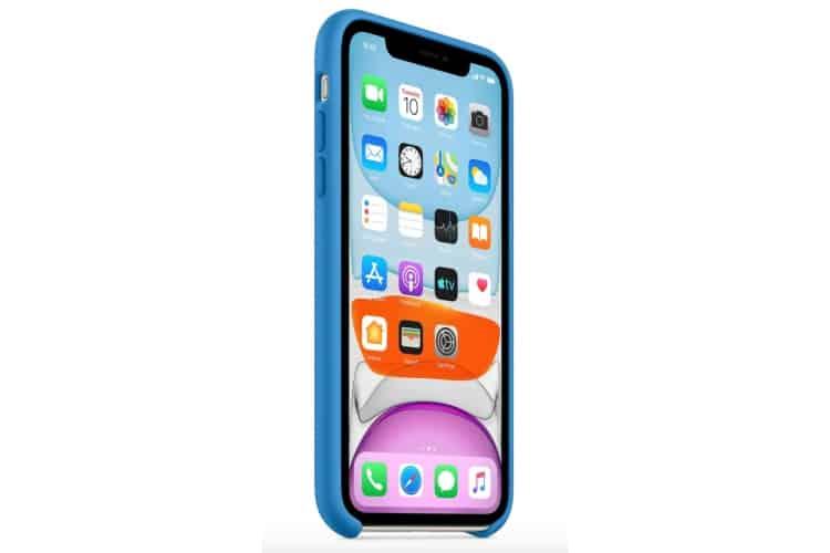 Apple silikónový obal pre iPhone 11 - príbojovo modrý 2