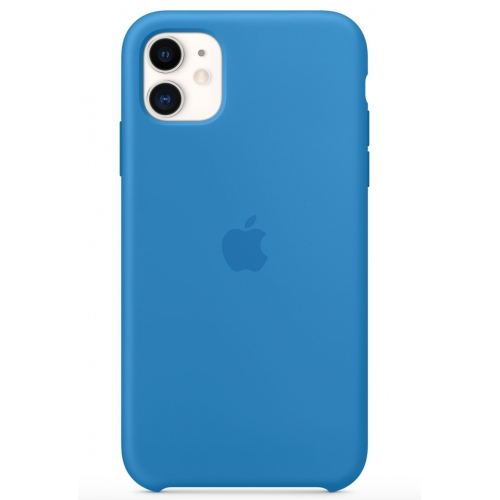 Apple silikónový obal pre iPhone 11 - príbojovo modrý 1