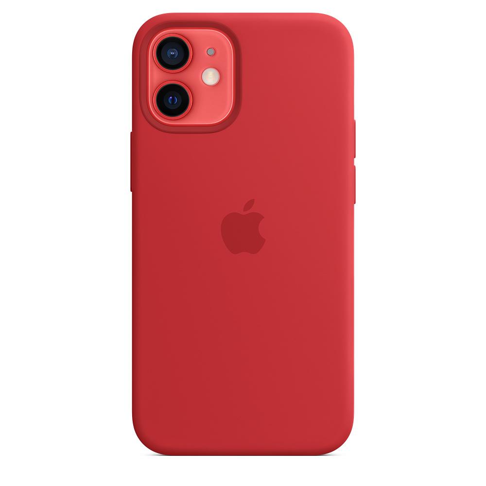 Apple silikónový obal pre iPhone 12 mini – červený s MagSafe 2