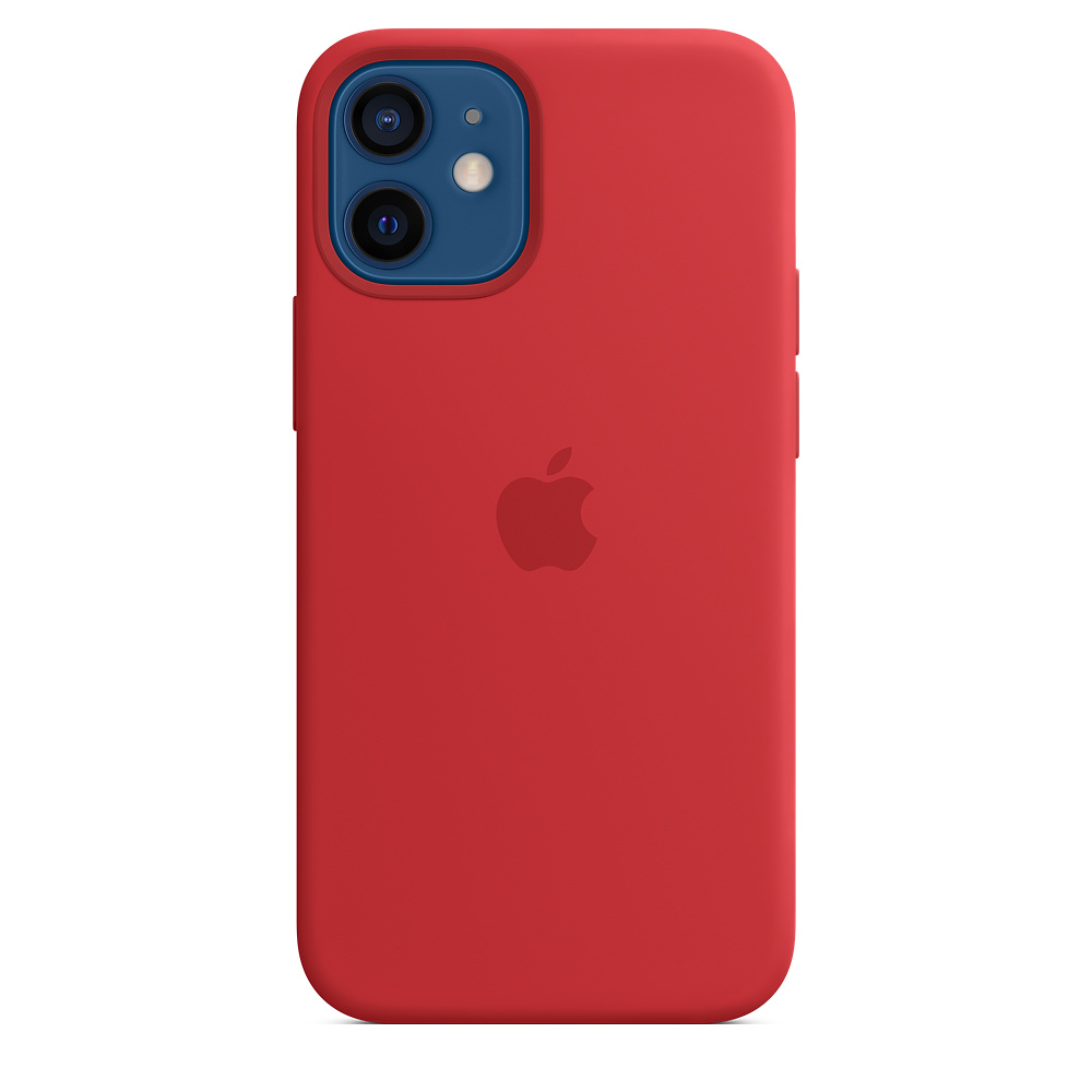 Apple silikónový obal pre iPhone 12 mini – červený s MagSafe 4
