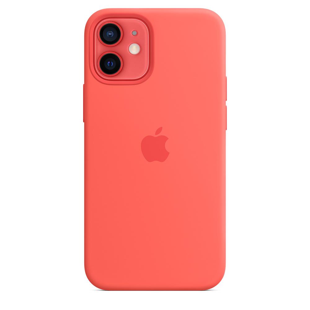 Apple silikónový obal pre iPhone 12 mini – citrusovo ružový s MagSafe 3