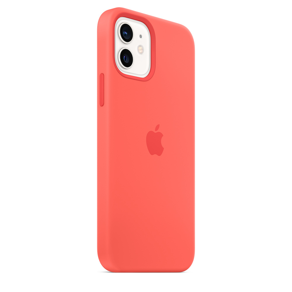 Apple silikónový obal pre iPhone 12/12 Pro – citrusovo ružový s MagSafe 4