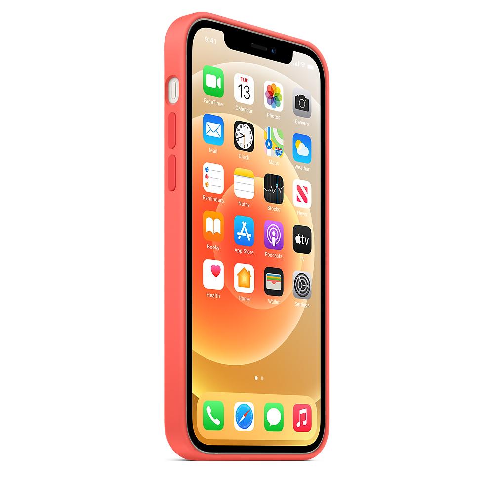 Apple silikónový obal pre iPhone 12/12 Pro – citrusovo ružový s MagSafe 2