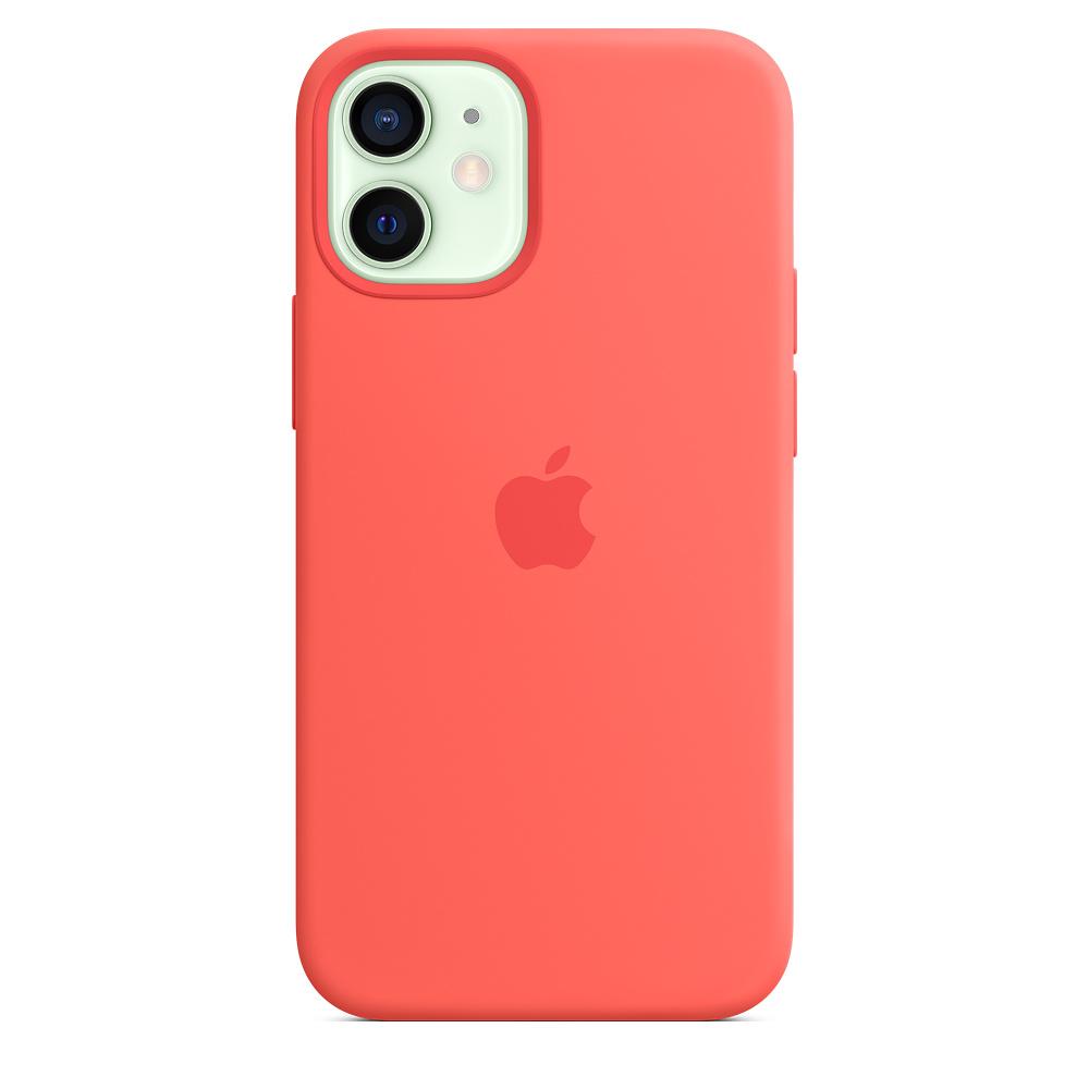 Apple silikónový obal pre iPhone 12 mini – citrusovo ružový s MagSafe 1