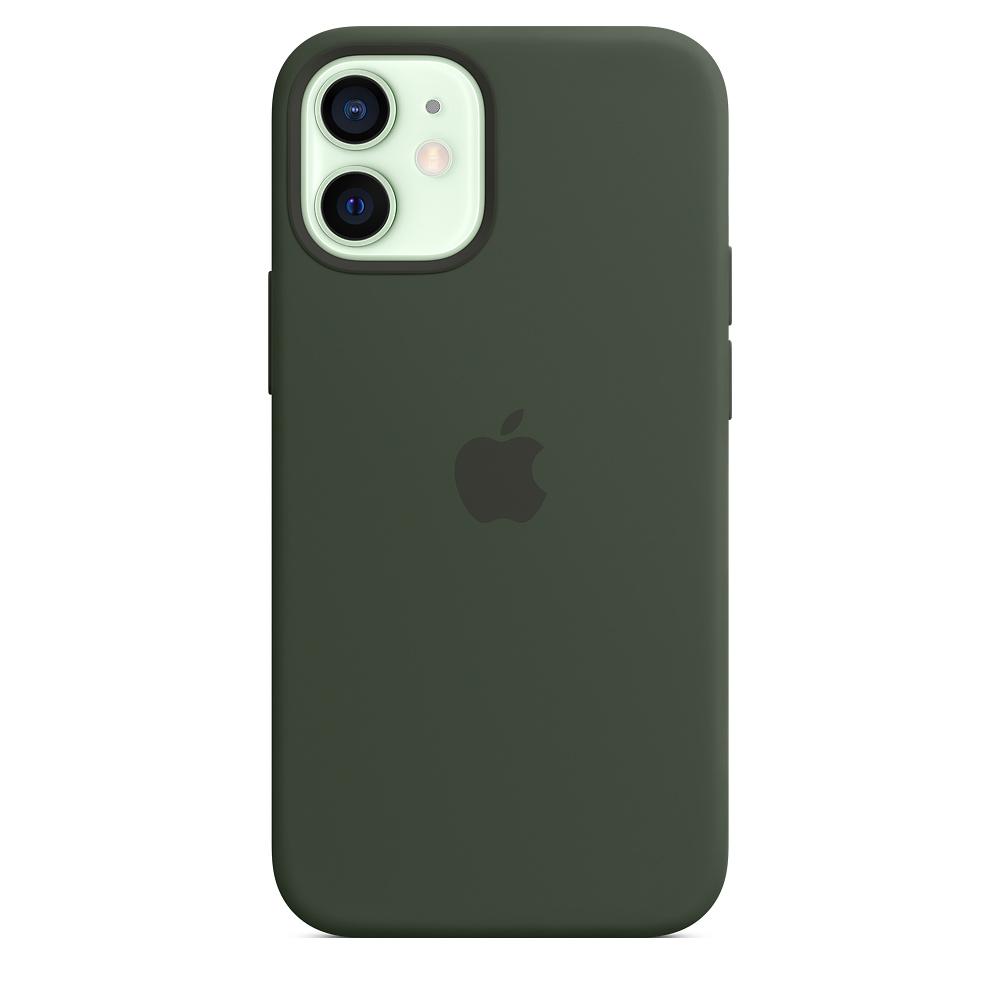 Apple silikónový obal pre iPhone 12 mini – cypersky zelený s MagSafe 1