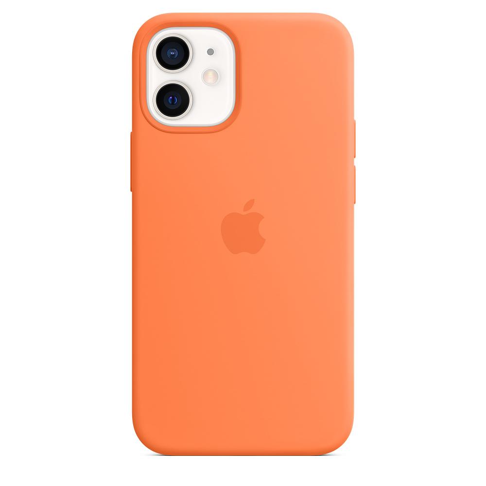 Apple silikónový obal pre iPhone 12 mini – kumquatovo oranžový 4