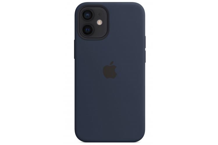 Apple silikónový obal pre iPhone 12 Mini – námornícky tmavomodrý 3