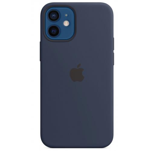 Apple silikónový obal pre iPhone 12 Mini – námornícky tmavomodrý 4