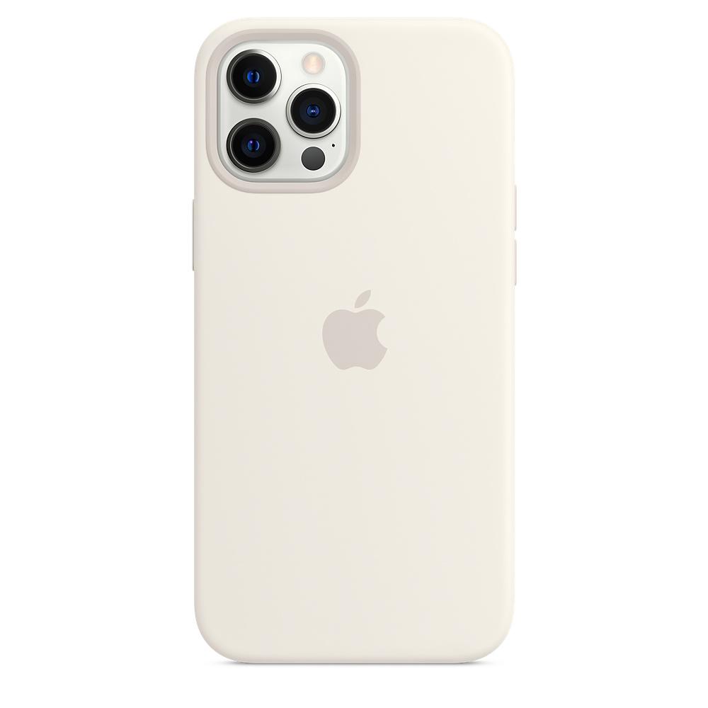 Apple silikónový obal pre iPhone 12 Pro Max – biely s MagSafe 2