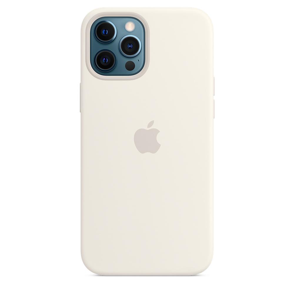Apple silikónový obal pre iPhone 12 Pro Max – biely s MagSafe 1