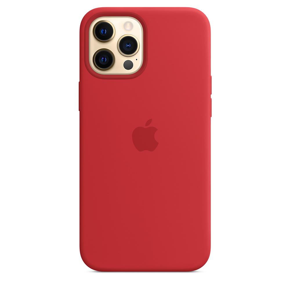 Apple silikónový obal pre iPhone 12 Pro Max – červený s MagSafe 1