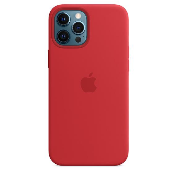 Apple silikónový obal pre iPhone 12 Pro Max – červený s MagSafe 2