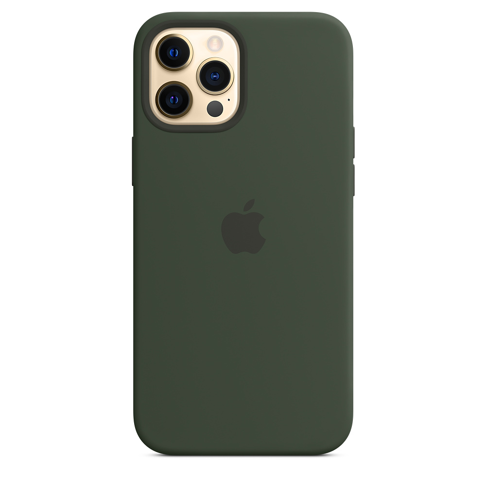 Apple silikónový obal pre iPhone 12 Pro Max – cypersky zelený s MagSafe 1