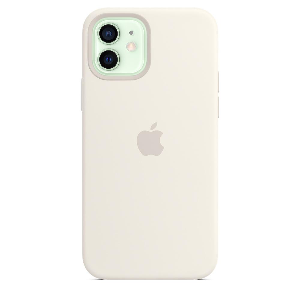 Apple silikónový obal pre iPhone 12/12 Pro – biely s MagSafe 1