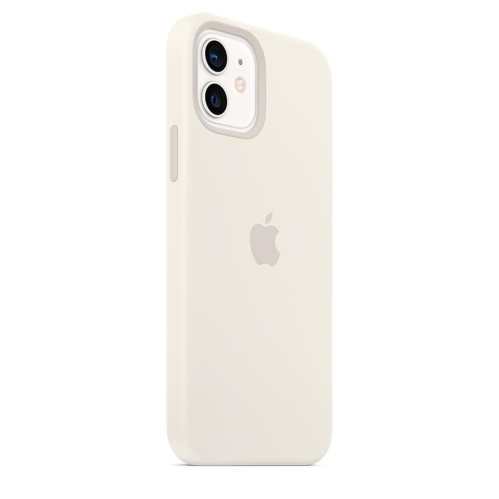Apple silikónový obal pre iPhone 12/12 Pro – biely s MagSafe 5