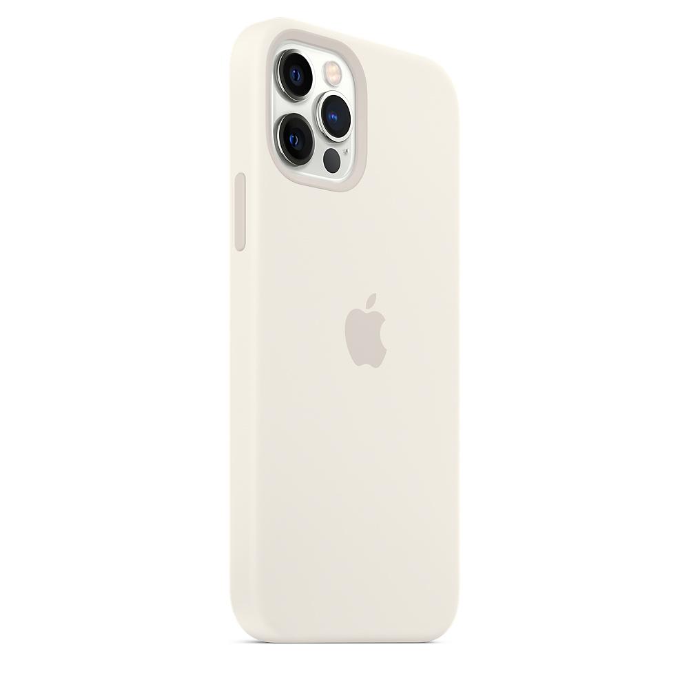 Apple silikónový obal pre iPhone 12/12 Pro – biely s MagSafe 2