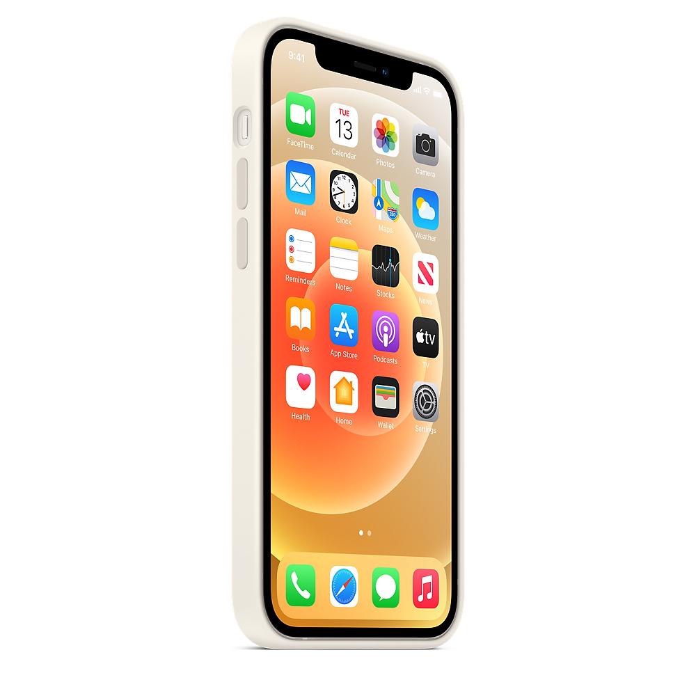 Apple silikónový obal pre iPhone 12/12 Pro – biely s MagSafe 3