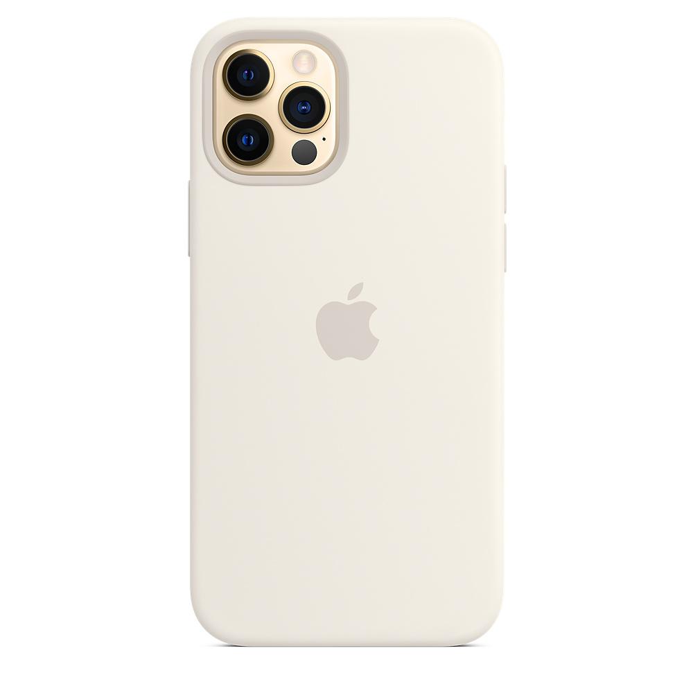 Apple silikónový obal pre iPhone 12/12 Pro – biely s MagSafe 4
