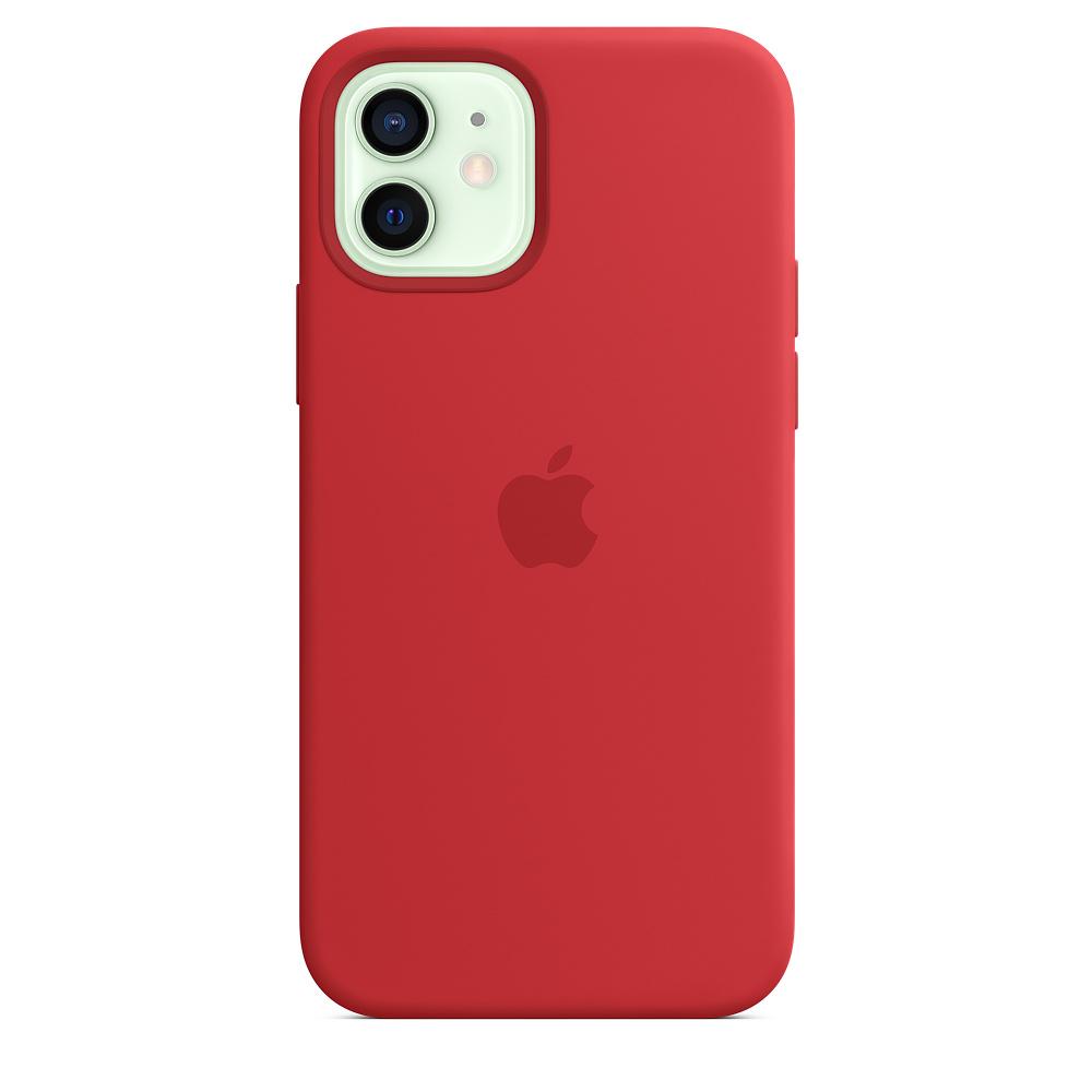 Apple silikónový obal pre iPhone 12/12 Pro – červený s MagSafe 1