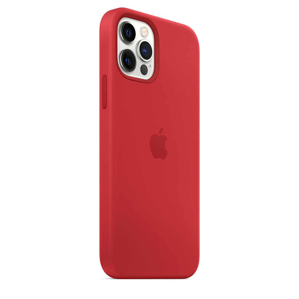 Apple silikónový obal pre iPhone 12/12 Pro – červený s MagSafe 4