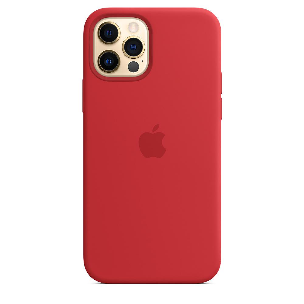 Apple silikónový obal pre iPhone 12/12 Pro – červený s MagSafe 5