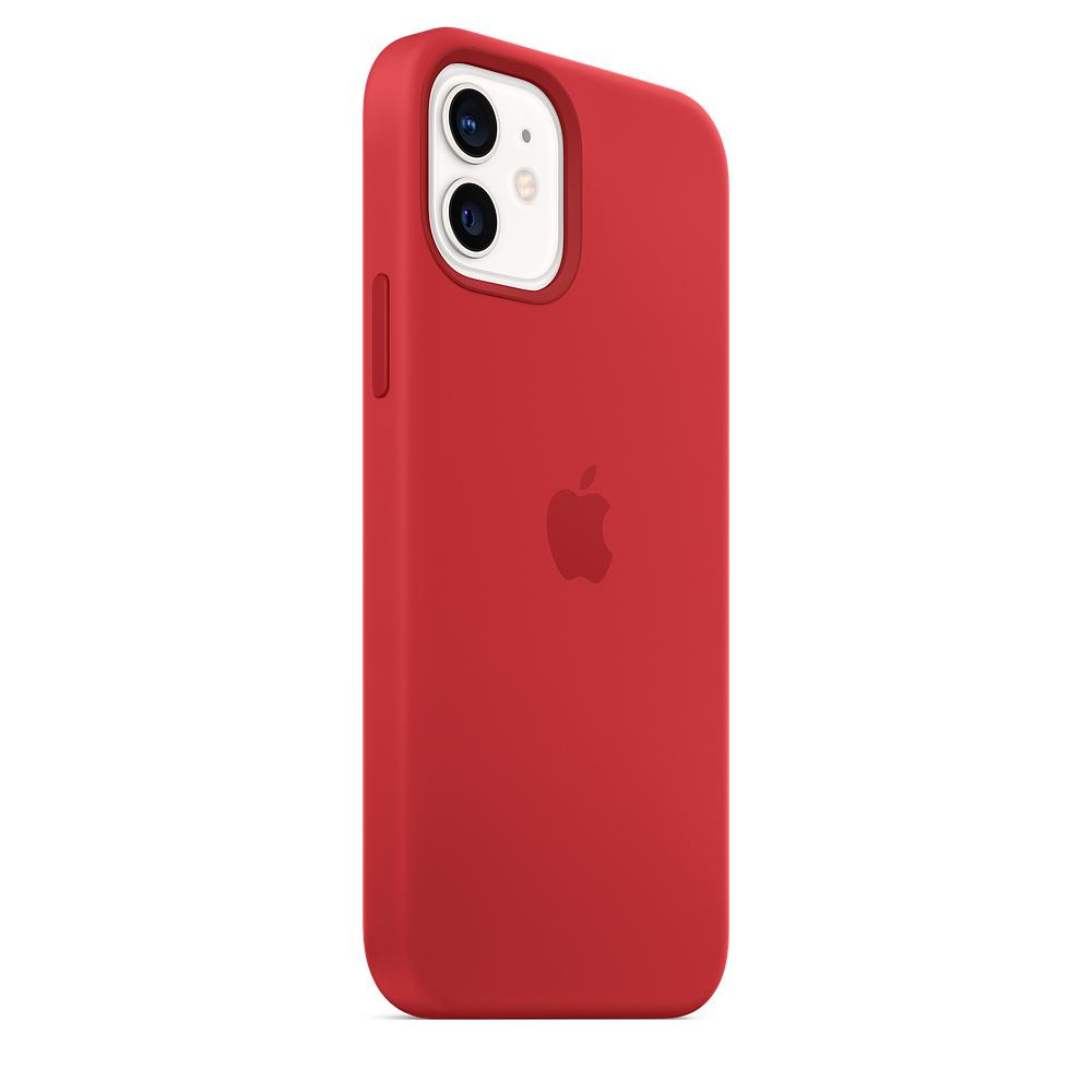 Apple silikónový obal pre iPhone 12/12 Pro – červený s MagSafe 3