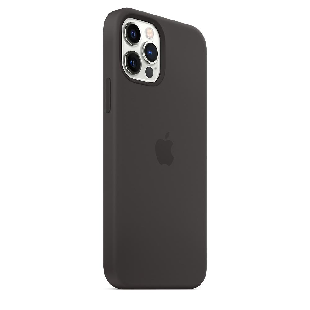 Apple silikónový obal pre iPhone 12/12 Pro – čierny s MagSafe 2
