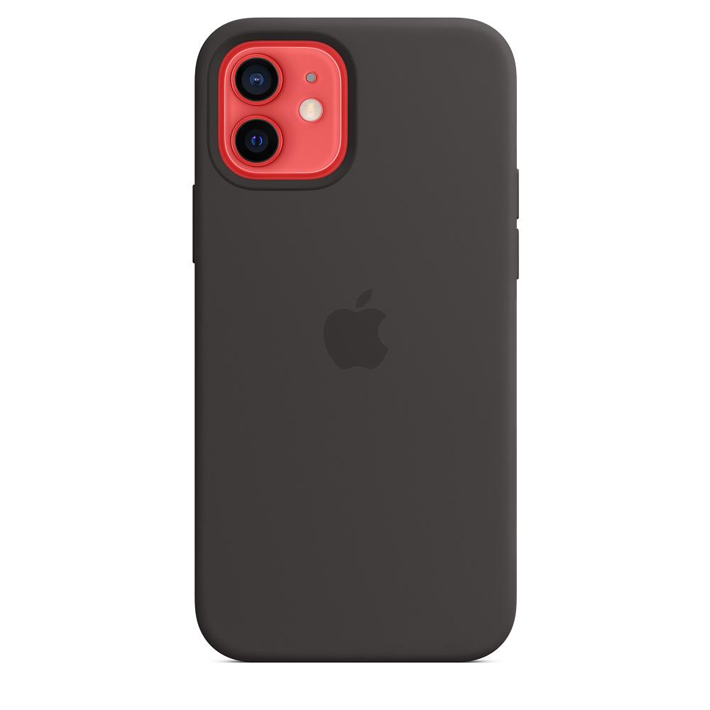 Apple silikónový obal pre iPhone 12/12 Pro – čierny s MagSafe 5