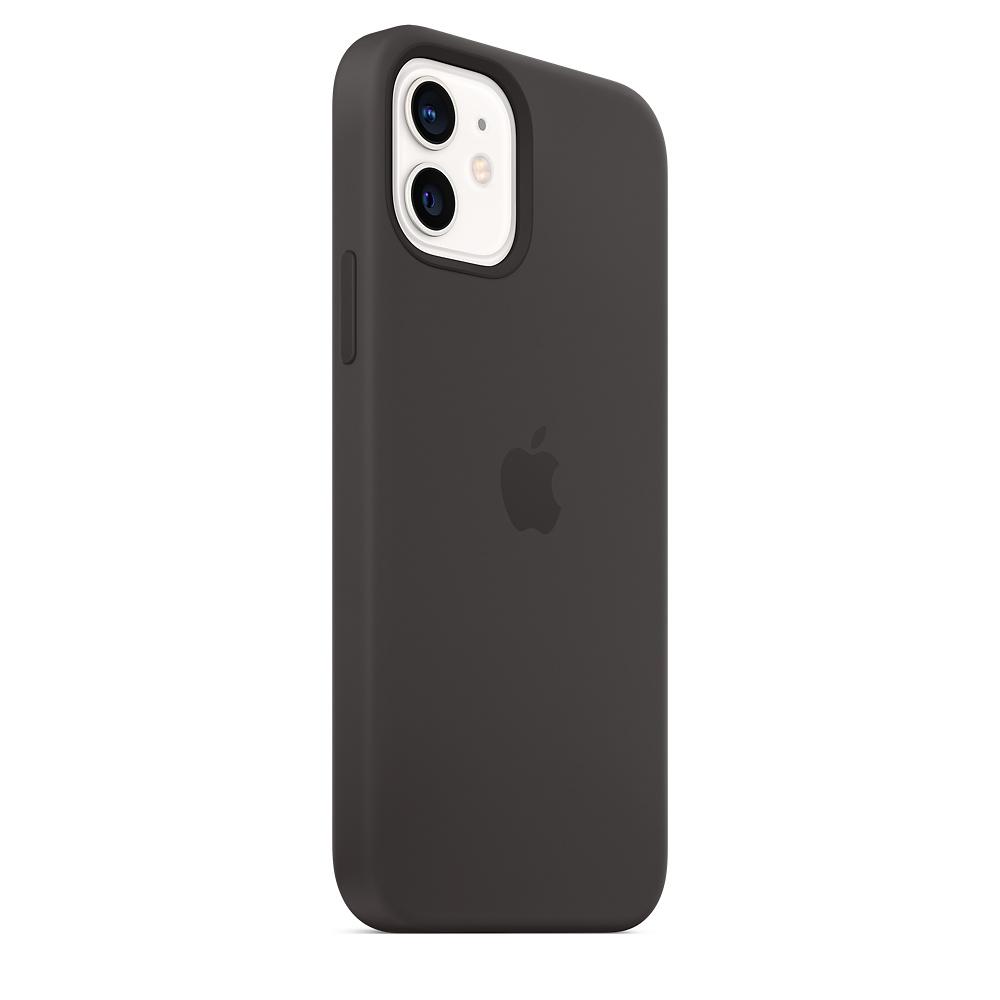 Apple silikónový obal pre iPhone 12/12 Pro – čierny s MagSafe 3