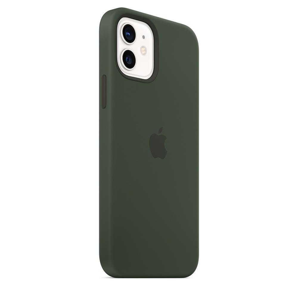 Apple silikónový obal pre iPhone 12/12 Pro – cypersky zelený s MagSafe 4