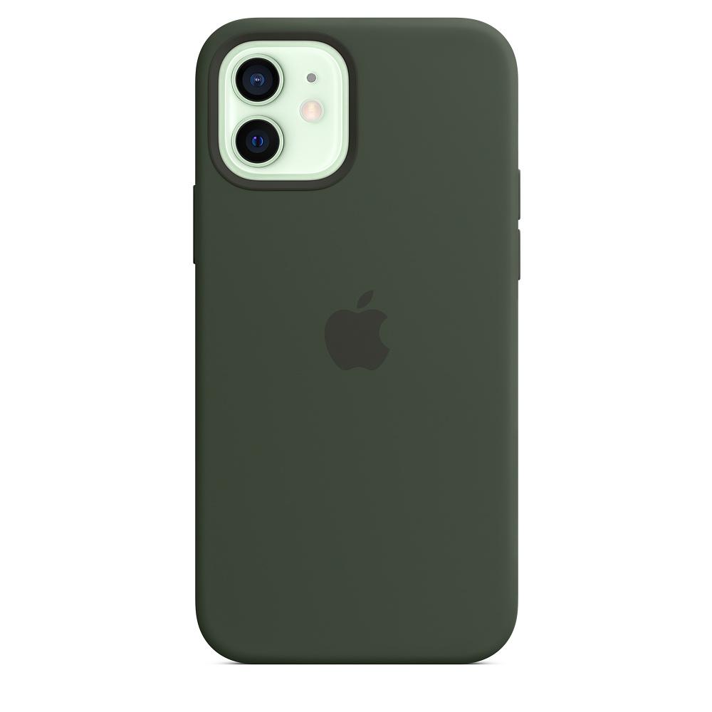 Apple silikónový obal pre iPhone 12/12 Pro – cypersky zelený s MagSafe 1