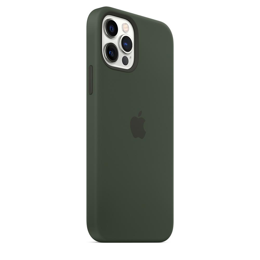Apple silikónový obal pre iPhone 12/12 Pro – cypersky zelený s MagSafe 5