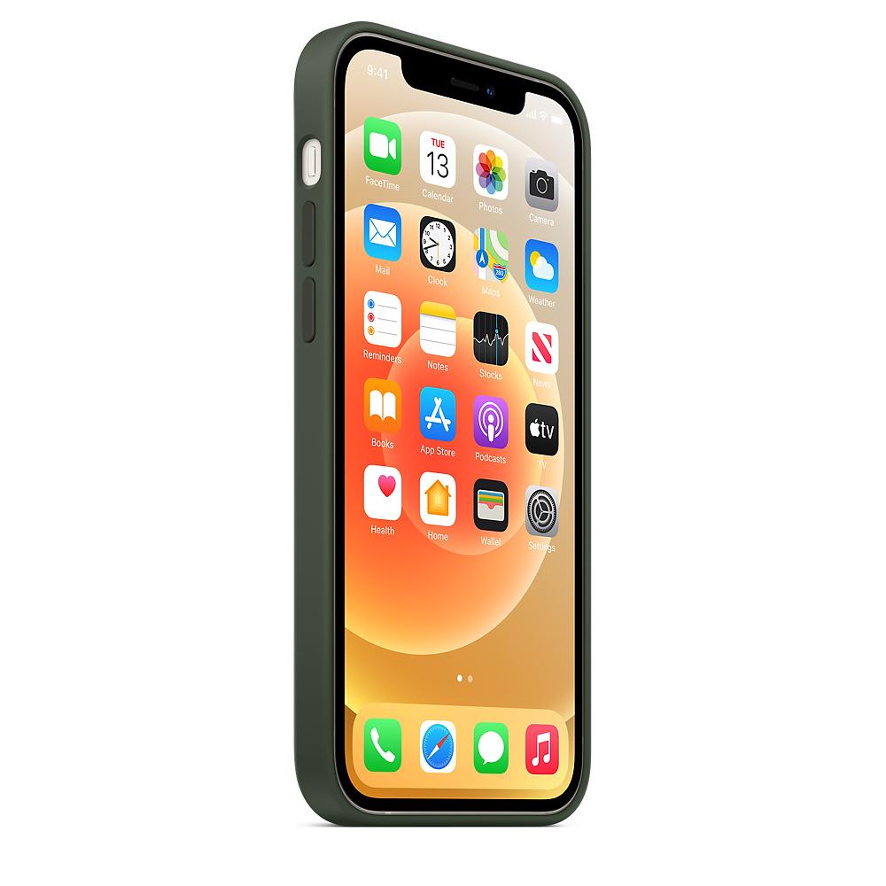 Apple silikónový obal pre iPhone 12/12 Pro – cypersky zelený s MagSafe 2