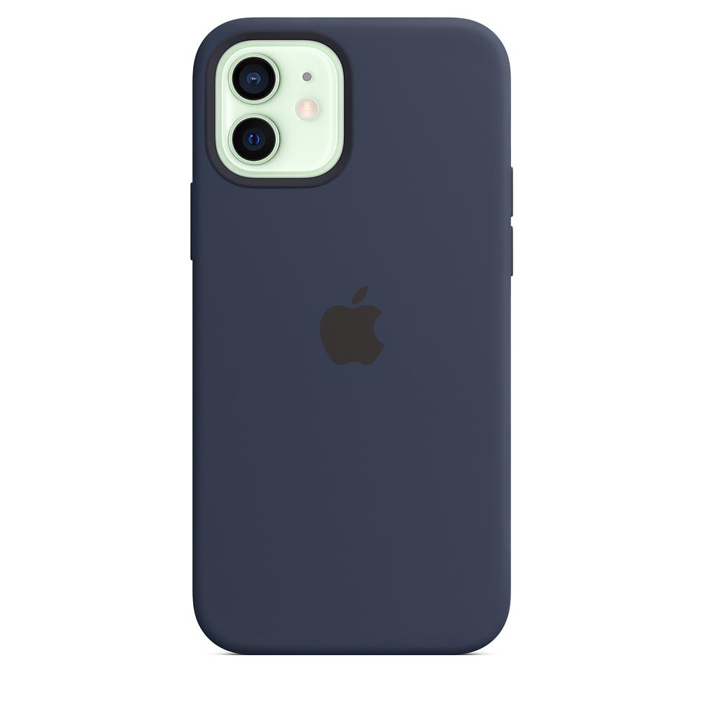 Apple silikónový obal pre iPhone 12/12 Pro – námornícky tmavomodrý 1