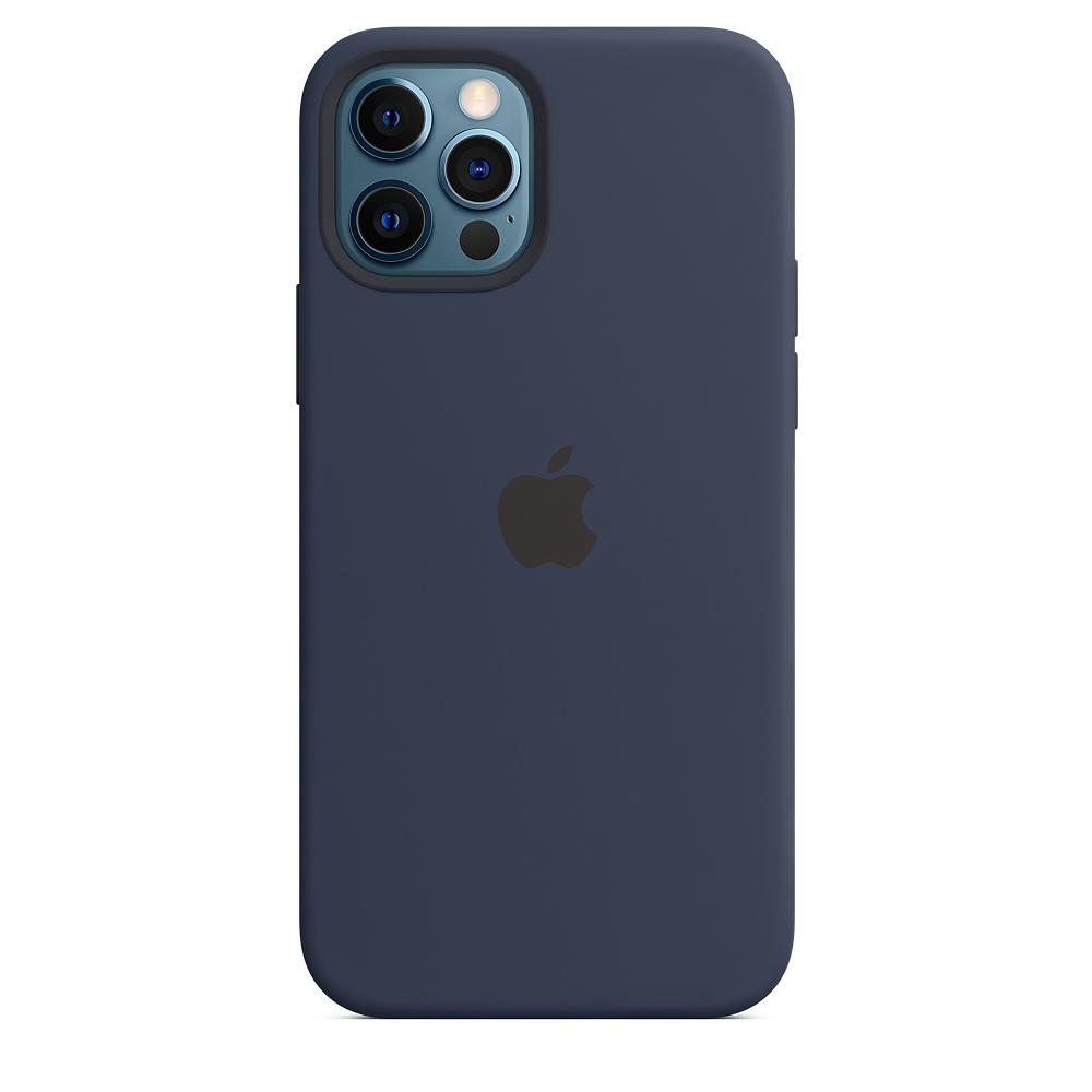 Apple silikónový obal pre iPhone 12/12 Pro – námornícky tmavomodrý 5
