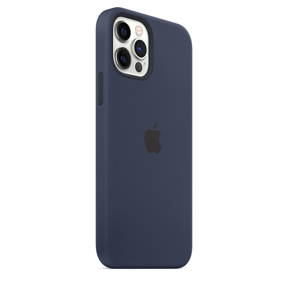 Apple silikónový obal pre iPhone 12/12 Pro – námornícky tmavomodrý 4