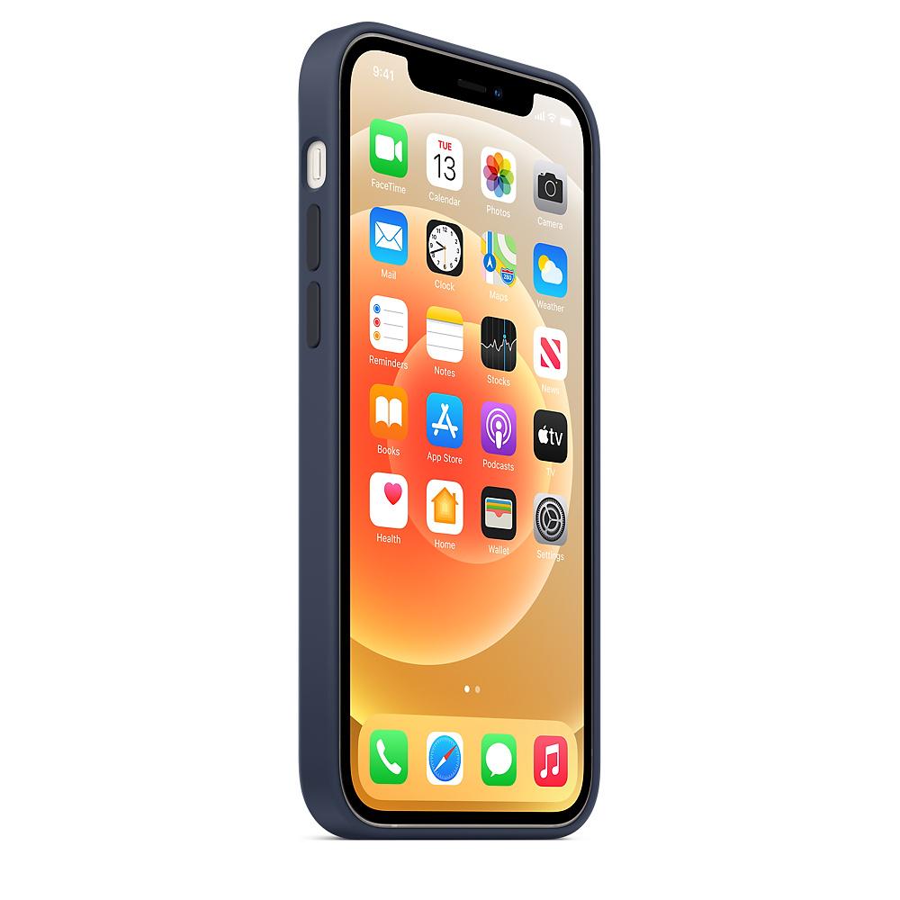 Apple silikónový obal pre iPhone 12/12 Pro – námornícky tmavomodrý 2