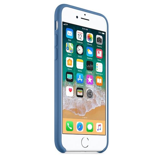 Apple silikónový obal pre iPhone SE 2020 – džínsovo modrý 2