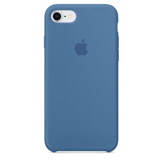 Apple silikónový obal pre iPhone SE 2020 – džínsovo modrý 1