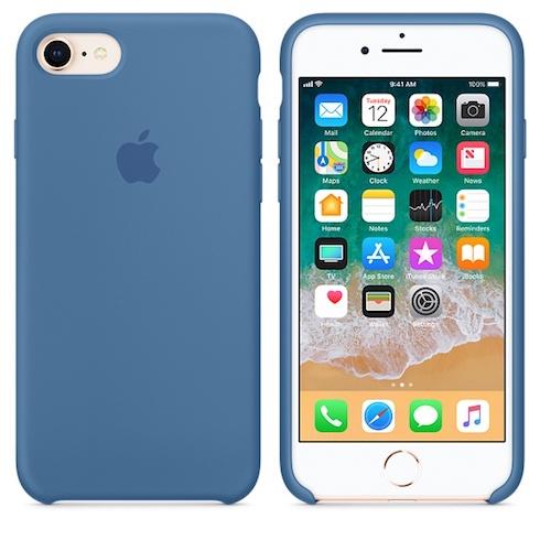 Apple silikónový obal pre iPhone SE 2020 – džínsovo modrý 3