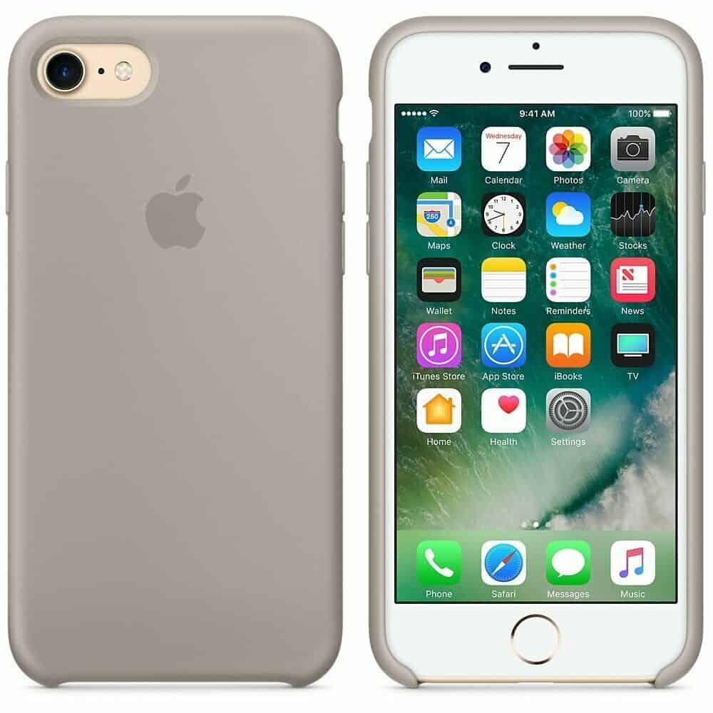 Apple silikónový obal pre iPhone SE 2020 – oblázkový 3